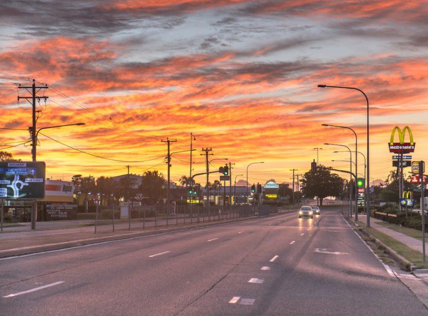 Boat,Harbour,Drive,,Pialba,,Hervey,Bay,,Queensland,,Australia.,Sunrise,In