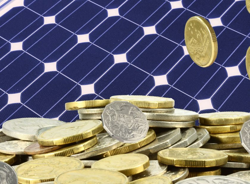 Solar,Panel,And,A,Heap,Of,Gold,Coins